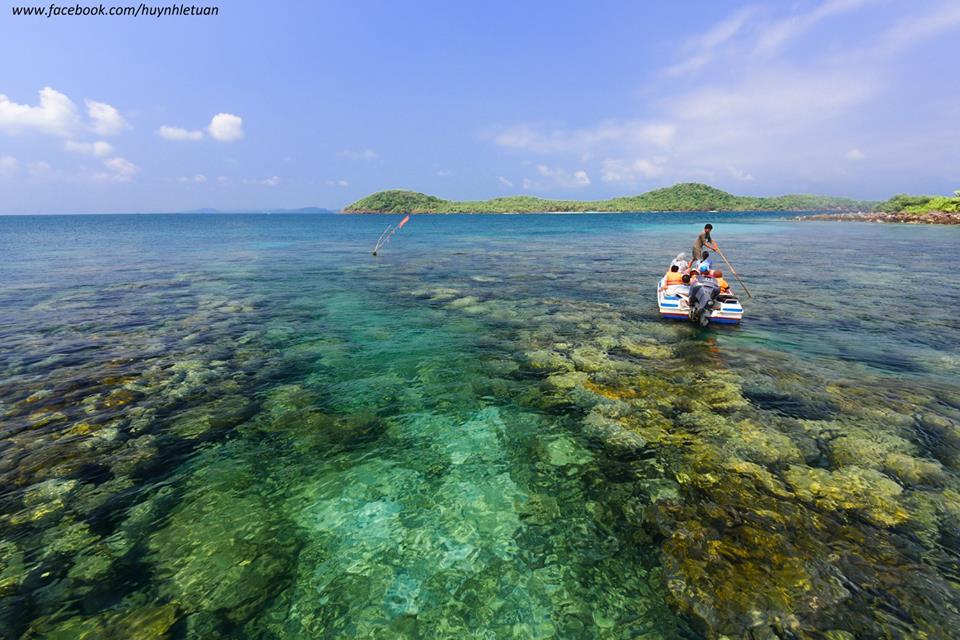 Làn nước xanh trong vắt tuyệt đẹp ở đây sẽ giúp bạn có thể dễ dàng nhìn thấy san hô.